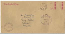 Dominica 1988 cover to Malta