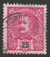 Portugal, 25 R. 1899, Sc # 117, Mi # 147, Used - 1892-1898 : D.Carlos I