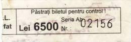 Romania - regional bus ticket