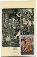DAHOMEY CARTE MAXIMUM DU PA 50  50F. TAPISSERIE DE BEAUNE  OBLITERATION 1er JOUR COTONOU 25 DEC. 66 - Bénin – Dahomey (1960-...)