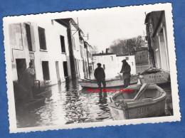 Photo ancienne - Lieu � identifier - inondations - Canot 7559 M - 1951