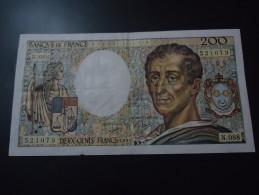 1992 FRANCE RARE 200 FRANCS ( P 155e ) - 1962-1997 ''Francs''