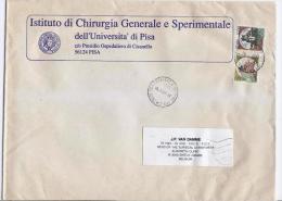 San Frediano A Settimo 18.9.1997 - Castello L.900 + L.1000  Su Busta Stampe Estero (2° Porto) - 6. 1946-.. Repubblica