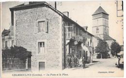 CHAMBOULIVE - La Poste Et La Place - Other Municipalities
