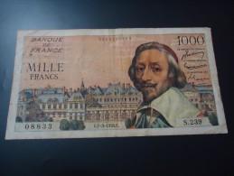 1956 FRANCE VERY RARE 1000 FRANCS ( P 134a ) - 1871-1952 Anciens Francs Circulés Au XXème