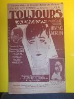 """PARTITION CHANT """"TOUJOURS/ALWAYS"""" VALIES-Carmen VILDEZ-Irving BERLIN-LELIEVRE-VARNA-ROUVRAY-VORELLI-TRISTAL-M.LO�YS-Etc."""