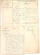 ROUEN  OCQUEVILLE  ENQUETE CONCERNANT LE DOCTEUR PERCEPIED POUR LUI REMETTRE LETTRE DU MAIRE  CONCERNANT UNE MARNIERE - Historical Documents