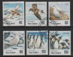Oiseaux Du Territoire De Ross.(Antarctique Neo-Zelandais) 6 T-p Obliteres.  Serie Complète - Ross Dependency (New Zealand)