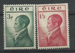 Irlande 1953 N°120/121 Neufs* MLH Robert Emmel - Nuevos