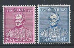 Irlande 1954 N°124/125 Neufs * MLH Université Catholique - Nuevos