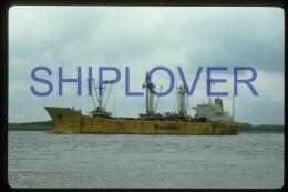diapositive authentique cargo BREDA en 1985 (r�f. D3933) - ship 35 mm photo slide - bateau/ship/schiff