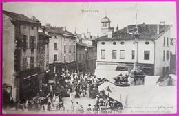 Cpa Montluel Place Carnot Un Jour De Marché 1902 Carte Postale 01 Ain Proche Rillieux La Pape Vaux En Velin - Montluel