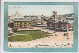 UNION  PASSENGER  STATION  -  EXCHANGE  PLACE  -  PROVIDENCE  -  CENTRAL  FIRE  STATION  - 1905 - - Providence
