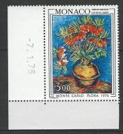 "Monaco YT 1056 "" Floralies Internationales "" 1976 Neuf** BDF Daté - Monaco"