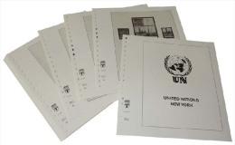 Lindner T Vordruckblätter T600K/14 2014 Vereinte Nationen NEW YORK Kleinbogen Und Zusammendruckbogen - Jahrgang 2014 - Pre-Impresas