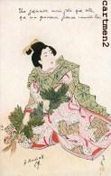 JAPANESE WOMAN JAPANESE ILLUSTRATOR GEISHA JAPON JAPAN - Non Classés