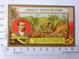Chromo Chocolat GUERIN BOUTRON - Treich LAPLENE - Français En 1887 Il Parcourt Le Boudoukou - Guérin-Boutron