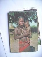 Africa Angola Woman Half Naked With Child - Angola