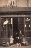 """Carte Photo A Iddentifier, Basse Normandie , Region Bayeux..devanturequincaillerie """" J. D'herouville """" - Cartes Postales"""