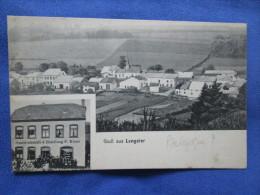 Gruss Aus Lengeler. Gastwirtschaft & Handlung P. Klons. Herm Wagner Photogr. Voyage 1918 (ecrite Par Un Soldat Francais) - Belgique