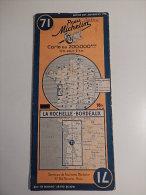 CARTE PNEU MICHELIN N°71 : LA ROCHELLE - BORDEAUX , Carte Au 200 000 ème 1945 - Cartes Routières
