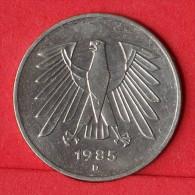 GERMANY FEDERAL REPUBLIC  5  MARK   1985 D   KM# 140,1  -    (Nº11037) - [ 7] 1949-… : FRG - Fed. Rep. Germany