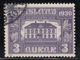 Iceland Used Scott #152 Facit #173 3a Parliament Building - Used Stamps