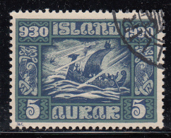 Iceland Used Scott #153 Facit #174 5a Viking Ship In Storm - Used Stamps