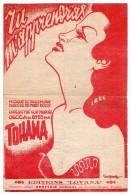 "PARTITION CHANT+ACCORDS ""TU M'APPRENDRAS"" TOHAMA-Paroles:Fred DOLYS-Musique:Paule MURAY-illustration:Peter DEGREEF"