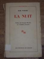 La Nuit Par Elie WIESEL, Préface De François MAURIAC, 1958 Récit Holocauste Prix Nobel De La Paix - Histoire