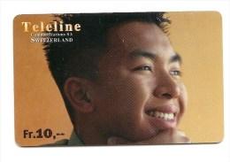 SWITZERLAND/ SUISSE - Teleline - Asian boy smiling