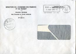 Flamme Sur Enveloppe Franchise Postale,Boire Ou Conduire,cachet Rond Douanes Français Lille 30.6.84 - Accidents & Road Safety
