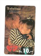 SWITZERLAND/ SUISSE - Teleline - Children with hearts
