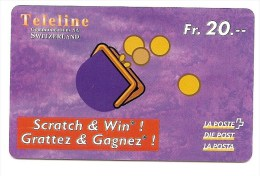 SWITZERLAND/ SUISSE - Teleline - wallet and coins / portemonnaie et monnaies