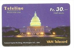 SWITZERLAND/ SUISSE - Teleline - USA the White House / La maison blanche Washington