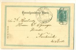 Kastenstempel SCHEIBBS 1903 + NEUBRUCK B. SCHEIBBS Auf Correspondenz-Karte - Storia Postale