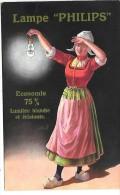"""PUBLICITE - LAMPE """"PHILIPS"""" - Werbepostkarten"""