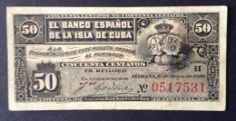 CUBA. 50 centavos 1896. Pick 46
