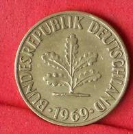 GERMANY FEDERAL REPUBLIC  10  PFENING  1969 G   KM# 108  -    (Nº11086) - [ 7] 1949-… : FRG - Fed. Rep. Germany