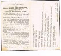 MEULEBEKE - DORNBURG( Duitsland) - Doodsprentje Van Camiel GERMONPREZ  + 1943 - Religion & Esotérisme