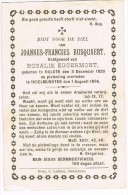 HULSTE (Harelbeke) - INGELMUNSTER Doodsprentje Van Joannes BUSQUAERT + 1895 - Religion & Esotérisme