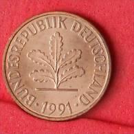 GERMANY FEDERAL REPUBLIC  2  PFENING  1991 J   KM# 106a  -    (Nº11108) - [ 7] 1949-… : RFA - Rép. Féd. D'Allemagne