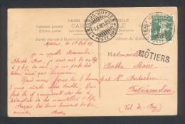 Suisse - Travers-Buttes Poste Ambulante - Griffe Linéaire De Môtier - Marcophilie (Lettres)