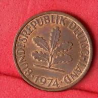 GERMANY FEDERAL REPUBLIC  2  PFENING  1974 D   KM# 106a  -    (Nº11113) - [ 7] 1949-…: BRD