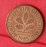 GERMANY FEDERAL REPUBLIC  2  PFENING  1985 F   KM# 106a  -    (Nº11115) - [ 7] 1949-…: BRD