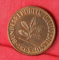 GERMANY FEDERAL REPUBLIC  2  PFENING  1965 J   KM# 106  -    (Nº11117) - [ 7] 1949-…: BRD