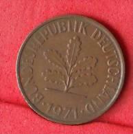 GERMANY FEDERAL REPUBLIC  2  PFENING  1971 J   KM# 106a  -    (Nº11121) - [ 7] 1949-…: BRD