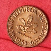 GERMANY FEDERAL REPUBLIC  2  PFENING  1963 G   KM# 106  -    (Nº11134) - [ 7] 1949-…: BRD