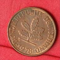 GERMANY FEDERAL REPUBLIC  2  PFENING  1978 D   KM# 106a  -    (Nº11136) - [ 7] 1949-…: BRD