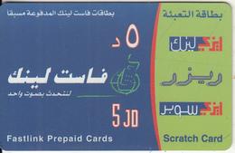 JORDAN - Fastlink prepaid card 5 JD, used